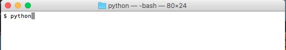 MACターミナルでPythonを起動